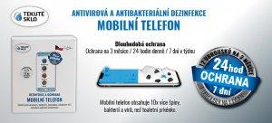 Antivirová dezinfekce mobilní telefon